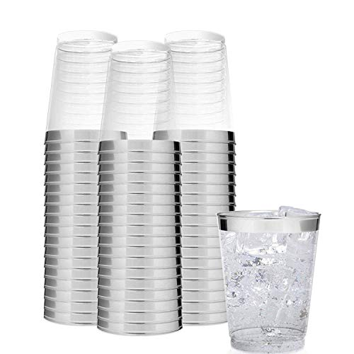 BELLE VOUS Kunststoffbecher (48 Stück) - 300 ml Glasklar Plastikbecher - Trinkbecher für Party, Camping, Hochzeiten, Strand - Stapelbar Plastik Becher - Kunststoff Becher Wiederverwendbar