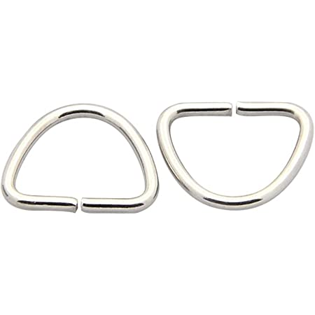 100pcs Triangle 304 Stainless Steel Close but Unsoldered Jump Split Rings