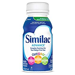 Similac Advance Infant Formula with Iron Stage 1 Ready-to-Feed Bottles, 8 Ounce, 6 Count