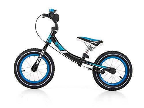 Milly Mally - Bicicletta per bambini con ruote da 12 pollici e telaio girevole