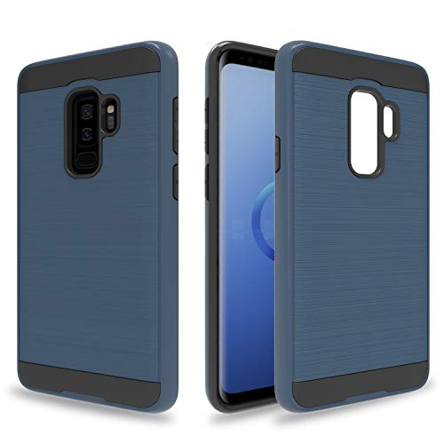 Ayoo:Galaxy S9 Plus Case,Galaxy S9+ Case,Galaxy S9+ Plus Case,Galaxy S9 Plus Phone Case,[Drop Protection] Brushed Texture Full-Body Shockproof Protective Cover Design for Galaxy S9 Plus-ZS Metal Slate