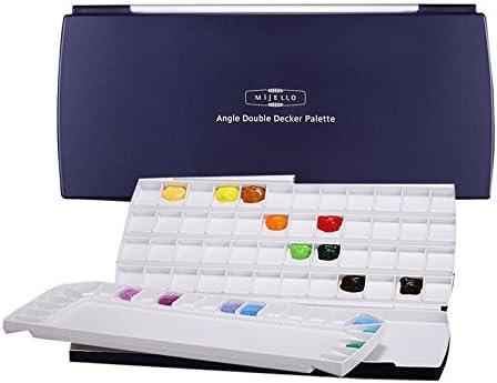 Mijello Max 58% OFF Super beauty product restock quality top Watercolor Palette MWP-1772 Double Decker Wells 72 370x1