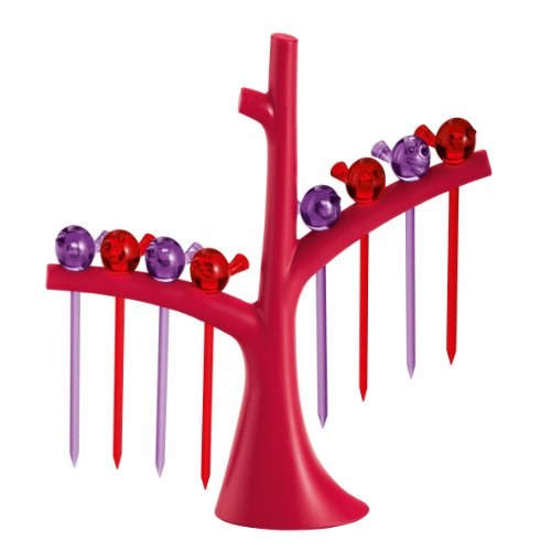 Koziol Bâtonnets 'Party' de (D4cm x L17cm x H19.5cm Rouge/Violet), Plastique, Multicolore, Taille Unique