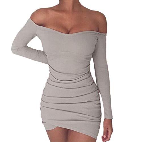 Youdong Robe Dos Nu Femmes Sexy Strappy Skinny Sheath Slim Soirée Clubwear Femme été Casual Mini Courte FemmesSolide de Fête sans Manches Confortable Robes Serré Crayon