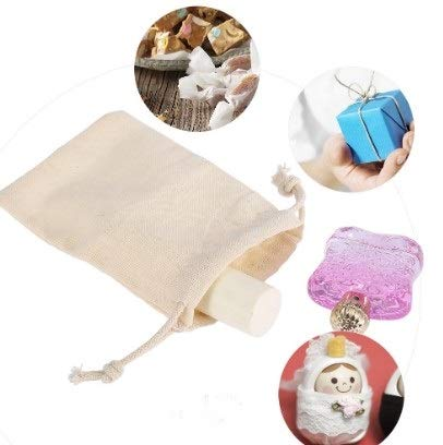 10pcs Cotton Bag Drawstring Reusable Bag for Grocery Jewelry Wedding Favors1057