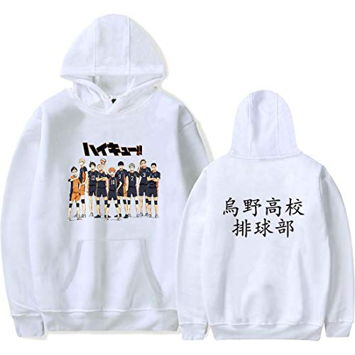 Flyself Unisex Haikyuu Hoodie Karasuno Hinata Shoyo Hinata Tobio Jumper Kapuzen Sweatshirt Cosplay Kostüm Kageyama Jacke