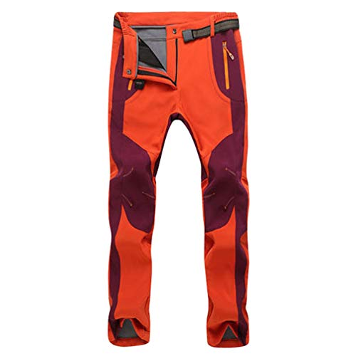 LaoZan Unisex Cálido Softshell Pantalones de Lana Sintético Forrada...