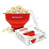 Collapsible Silicone Microwave Hot Air Popcorn Popper Bowl...