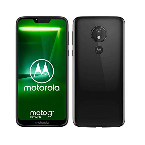 "Motorola Moto G7 Power, Smartphone Android 9.0, Display 6,2"", Dual Camera da 12Mp, 4/64 GB, Dual Sim, Ceramic Black [versione Italia]"