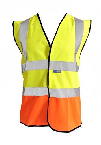 Fast Fashion - Visibilité Hiviz 2 Ton Gilet De Sécurité Er Vêtements De Travail Un Gilet