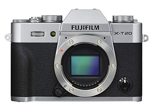 Fujifilm X-T20 Systemkamera mit Gehäuse (Touch LCD 7,6cm (2,99 Zoll) Display, 24,3 Megapixel APS-C X-Trans CMOS III Sensor) silber (Generalüberholt)