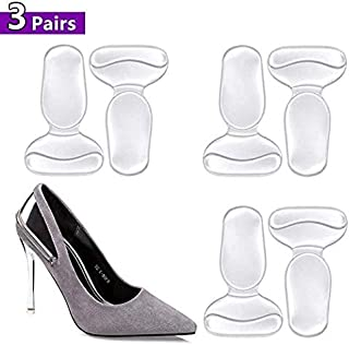 High Heel Cushion, Shoe Pads for Too Big Shoes, Anti-Slip Heel Grips Inserts Liners Foot Insoles for Women, Pack of 3