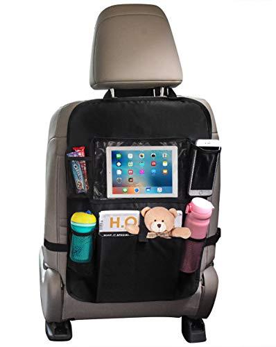 """Sedile Auto posteriore organizer, proteggi sedile auto per bambini con giocattolo/bottiglie/10"""" iPad Porta Tablet impermeabile Protezione organizer di sedile auto per bambini 1 Pezzi"""