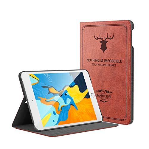 SmartDevil Retro Funda para iPad Mini 5 2019 / Funda para iPad Mini 4 2015, Funda para iPad Mini 5/4 Generacion con Auto-Sueño/Estela y Soporte, 7.9