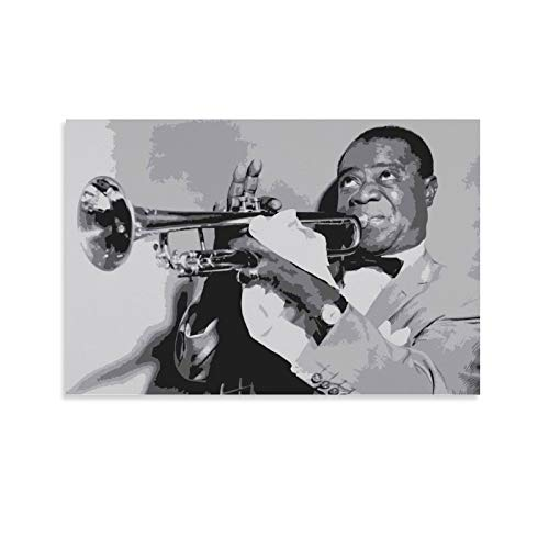 Louis Armstrong USA Trompeter Kunstdruck, Leinwand-Kunstposter und Wandkunstdruck, modernes Familienschlafzimmer, 20 x 30 cm
