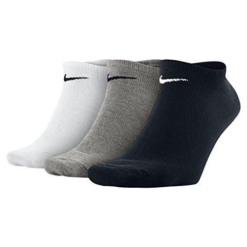 Nike U NK EVERYDAY LTWT NS 3PR Calzini, Unisex – Adulto, wh(blk)/dgh(blk)/blk(wh), L