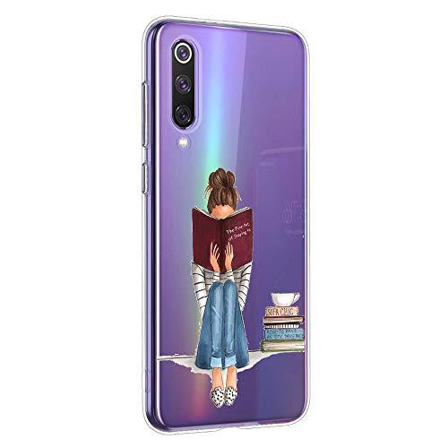 Oihxse Compatibel met Samsung Galaxy S8 Plus Hoes Siliconen Flexibele TPU Ultra Dun Doorzichtige Beschermhoes Mode Geschenk Bumper Schokbestendig Hoesje (B6)