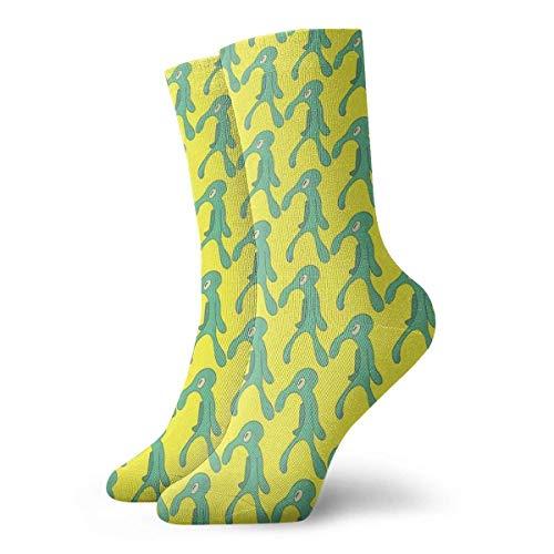 QUEMIN Calcetines de autorretrato de calamardo Calcetines cortos deportivos clsicos de ocio adecuados para hombres, mujeres, calcetines de sudor, calcetines casuales transpirables cmodos de 30 cm