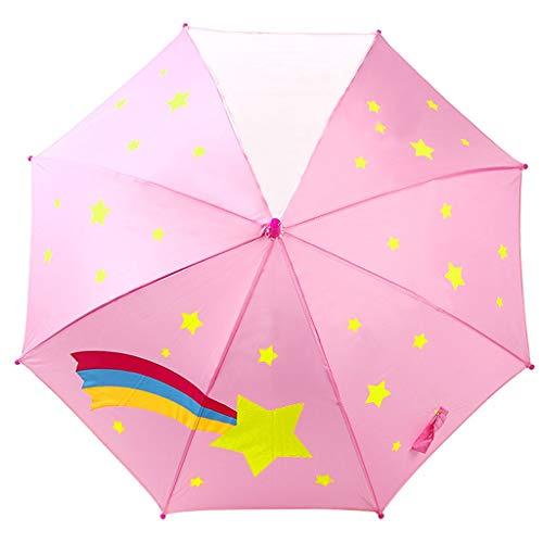 GFYS1201 Zakparaplu voor kinderen, halfautomatische parasol, voor jongens en meisjes, kinderparaplu, babyschool, zonnescherm