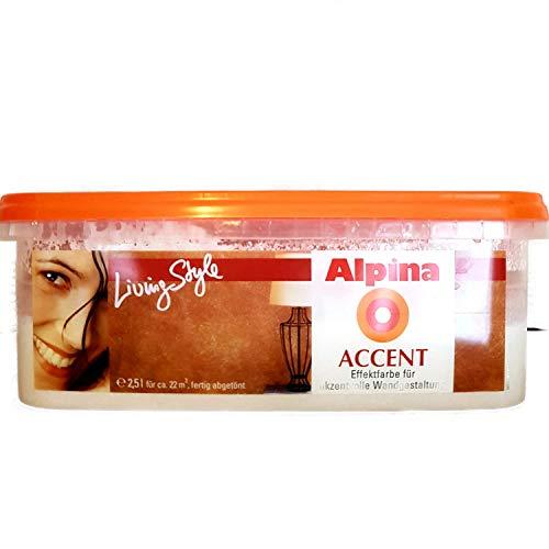 2,5l ALPINA Wandfarbe Effektfarbe Accent Diva / Rosa