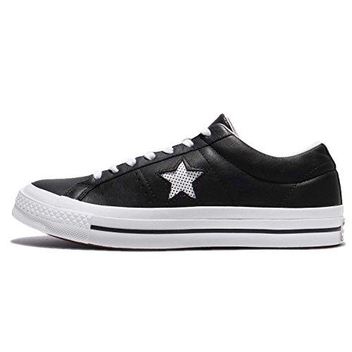 Converse One Star OX Black White, Zapatillas Unisex Adulto, Negro, Blanco y Negro, 45 EU