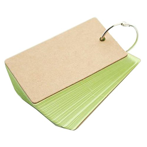 Westeng Farbenfrohe Mini-Notizbücher, Spiralbindung, Papier, Nachrichtenblock, süßes Partygeschenk, 1Stück Einheitsgröße grün