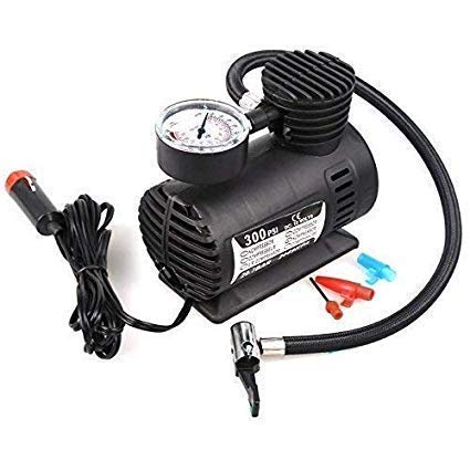 SELLINGZON Electric Air Compressor Inflator Pump for car, Bike, tubeless tyre, 12V 300 PSI air Pump for Bicycle, Football, Basketball (Black)