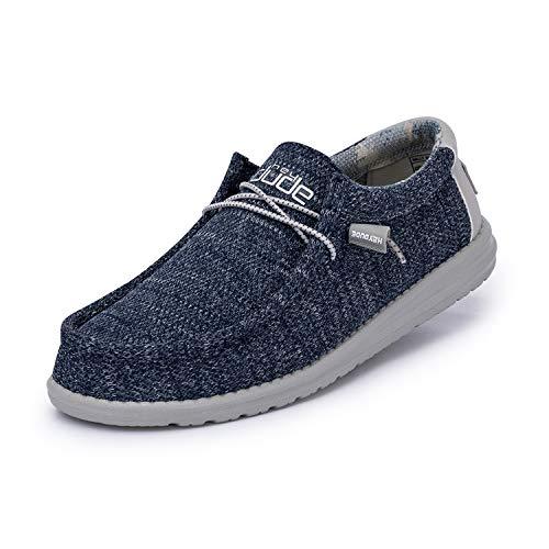 Hey Dude Wally Sox – Zapatos de Hombre Informales – Moonlit Ocean – Cómodo y Ligero – Plantilla Ergonómica de Espuma Viscoelástica – Diseñados en Italia y California Talla EU 45