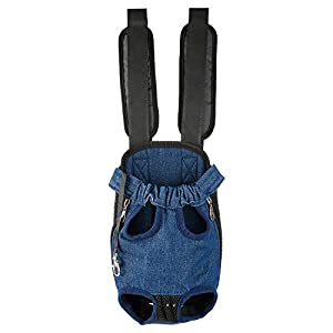 Fenley Pet Carrier Backpack, Legs Out Front-Facing Carrier with Adjustable Padded Strap Carrier Backpack for Dogs and Cats Puppy, Hands Free for Outdoor Walking, Hiking, Bike and Motorcycle-XL Denim