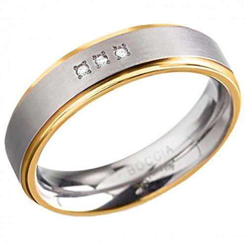 Boccia Damen-Ring Titan Diamant (0.03 ct) weiß Brillantschliff Gr. 58 (18.5) - 0134-0458