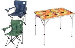 コールマン 3点セット ナチュラルモザイクテーブル リゾートチェア90cm グリーン ネイビー イス 椅子 Coleman 2000026735 2000026736 2000026752
