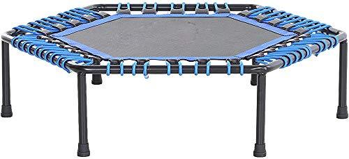 Aeróbica de trampolín de fitness de yoga y entrenamiento en interiores, jardín trampolín,Blue