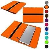 UC-Express Sleeve Tasche für Acer Spin 3 - Spin 5 - Spin 5 Pro - Spin 7 13,3-14 Zoll Hülle Filz Schutzhülle Case, Farbe:Orange