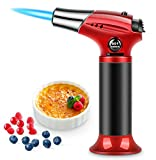 RenFox Kitchen Torch Butane Kitchen Torch Lighter Torch Gas Kitchen Safety Lock Adjustable Flames, for Creme Brulee, Cooking, Barbecue, Camping, DIY, Soldering
