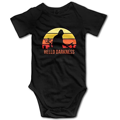 Nuwcense Hello Darkness Body à Manches Courtes pour bébé garçon - Noir - 2 Ans