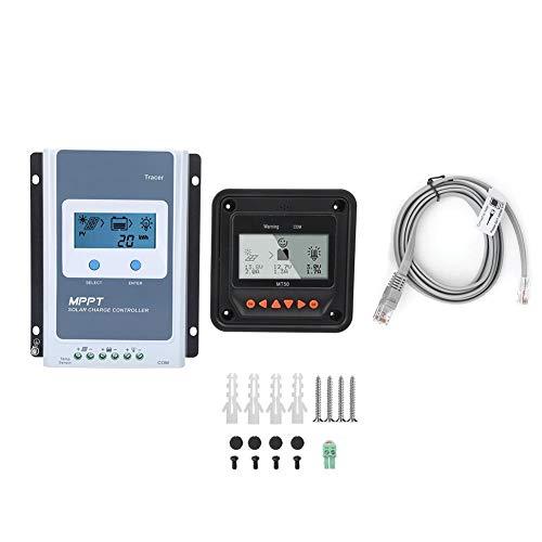 Solar-oplader MPPT 10A/20A/30A/40A, PV zonnepaneel regelaar met Messa Terra negatieve 12V / 24V Tracer auto + temperatuursensor + meter MT-50 + RS485-kabel 3210an