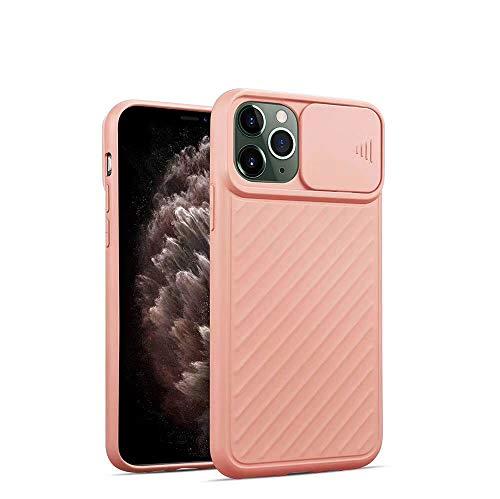 SevenPanda Slide Kamera Schutzhülle für iPhone 12/iPhone 12 Pro 6.1 Zoll Objektiv Schutzhülle - Rosa