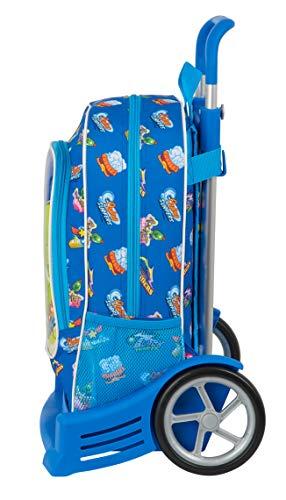 Safta Mochila 522 Espalda Ergonómica con Carro Evolution de Superzings Serie 5, 320x140x420mm, Azul