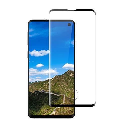 Galaxy S10 SC-03L SCV41 3Dラウンドエッジ加工 全面保護 強化ガラス 【ブラック】液晶保護フィルム ガラスフィルム 硬度9H ギャラクシー エス テン