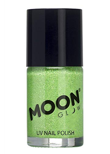 Moon Glow - Glitzernder Neon UV Nagellack 14ml Grün – ein spektakulär glühender Effekt bei UV- und Schwarzlicht!