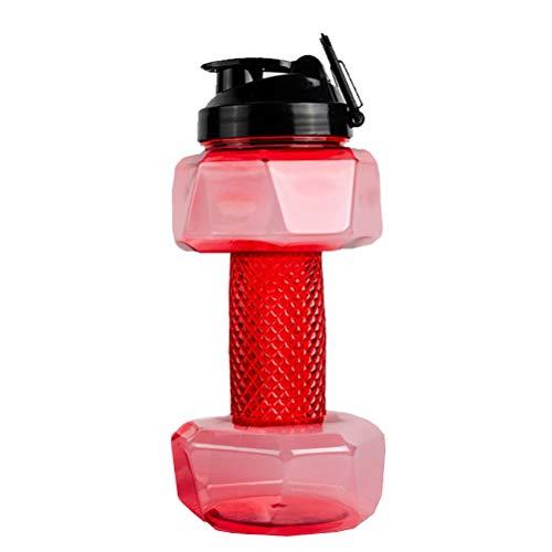 FAVOMOTO 1 Pieza 2. 2L Botella de Agua con Forma de mancuerna Botella de Agua Deportiva Hervidor de Agua Fitness Botella de Agua