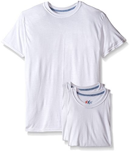 "Hanes Men`s X-Tempâ""¢ Crewneck 3pack White Undershirt,2535X3,L,White"