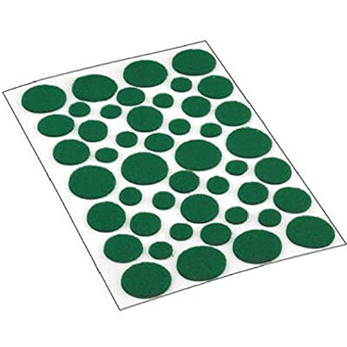 Shepherd Hardware 9423 Self-Adhesive Felt Surface Protection Pads, Assorted Sizes, 46-Count, Green