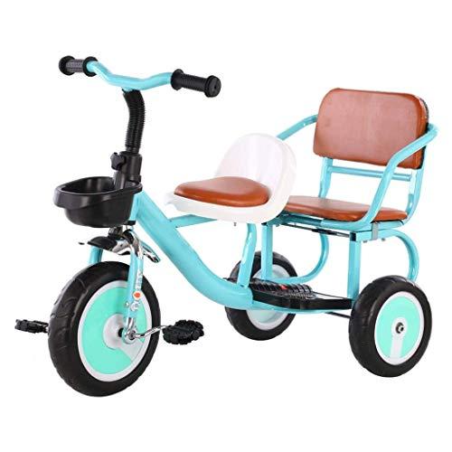 SZNWJ Bici en tándem, fomenta el Juego Activo, la interacción Social, Duradero Diseño Triciclo, for niños y niños de 2-4 Años de Edad (Color : A)