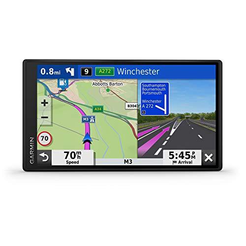 Garmin - DriveSmart 65 - GPS Auto - 6,95 pouces - Cartes Europe 46 pays – Cartes, Trafic et Zones de Danger gratuits - Très grand écran lumineux - cartographie 3D - Appels mains libres