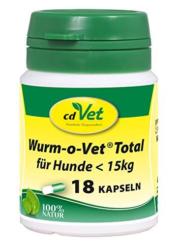 cdVet Naturprodukte Wurm-o-Vet Total für Hunde < 15 kg, 18 Kapseln - Hund - Ergänzungsfuttermittel - Darmunterstützung - Stärkung der Verdauung - Mangel an Kräuterinhaltsstoffen - Wurmbesatz -