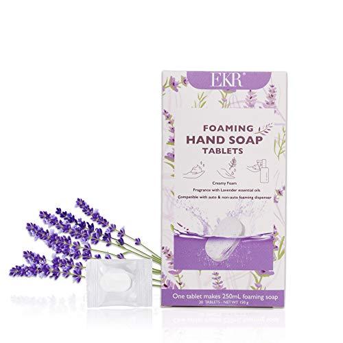 EKR foaming hand soap refills tablets (Lavender, 20tabs)