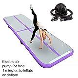 FBSPORT 20cm hoch 1M Aufblasbar Gymnastik Tumbling Matte Air Track,Trainingsmatte mit...