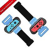 Qianwei Just Dance 2020/2019 Armband Spezial für Nintendo Switch Joy Con , Einstellbare Enge, Zwei Größen für Erwachsene und Kinder, Kompatibel für / Mario Tennis Ace / Fitnessboxen (2er Pack)