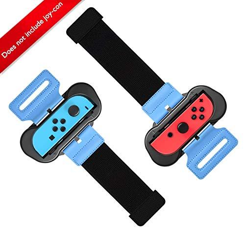 Qianwei Just Dance 2020 / Just Dance 2019 Nintendo Switch Joy con, brazaletes ajustados, tamaños para adultos y niños, compatibles / juegos de tenis Mario y boxeo deportivo (2 paquetes)